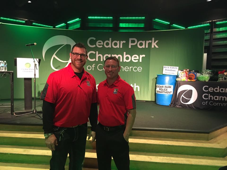 Ben and Blake at Cedar Park Chamber of Commerce 11.9.16